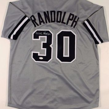 ONETOW Willie Randolph Signed Autographed New York Yankees Baseball Jersey (JSA COA)