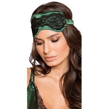 Sexy Lux Satin and Lace Sleep Eye Mask