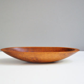 Vintage Oval-Shaped Wooden Dough Bowl