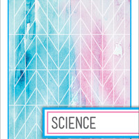 Back to School! Watercolor Binder Dividers - Science Class