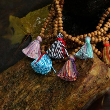 Wholesale Tassel Necklaces, Beaded Boho Jewelry, Bohemian Wooden Necklaces, Meditation Prayer Beads, Bulk Order of Wooden Yoga Mala Jewelry