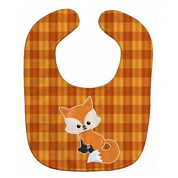 Baby Fox Gingham Baby Bib BB7087BIB