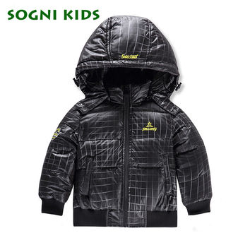 80% duck down Boys girls detachable hood   collar quilted Super light down feather jacket outwear kids winter warm snow coat