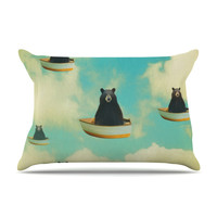 "Natt ""Bears"" Floating Animals Pillow Case"