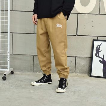 kuyou stussy cargo pants with hip hop style, for couples