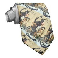 Krampus Rocking Horse Holiday Christmas Necktie