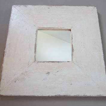 Modern Shabby Chic Style Square Design Wall Mirror