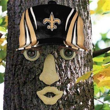 New Orleans Saints NFL FOREST FACE Yard/Tree GARDEN Decoration