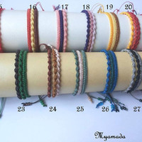 3 Simple micromacrame bracelet / free shipping