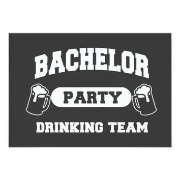 Bachelor Party Drinking Team invitation
