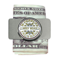Beatles Men's Sgt. Pepper Money Clip Silver