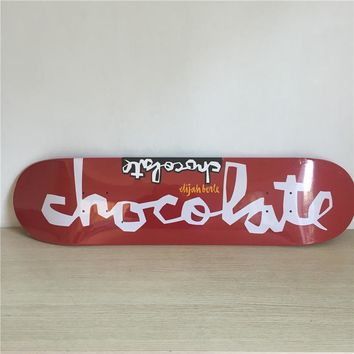 "Chocolate 8"" Canadian Maple Red Skateboard Deck"