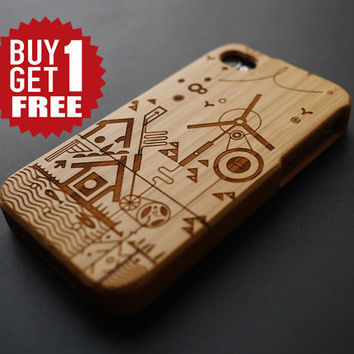Winnower Bamboo Wood iPhone 4 / 4S Case Cover - Wooden iPhone 4 Case - Unique iPhone4 Case Wood - iPhone 4S Phone Cases