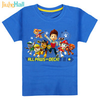 7 Types Hot Sale Kids Cartoon Paw Dog T-Shirts 100% Cotton Patrol Boys&Girls Tee Patrulla Canina Clothing For Kids 2-6 y CMB131