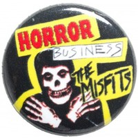 MISFITS HORROR BUSINESS BUTTON