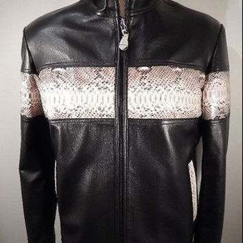 G-Gator Natural Python/Lamb Skin Motorcycle Jacket