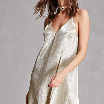 Metallic Knit Cami Dress