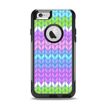 The Bright-Colored Knit Pattern Apple iPhone 6 Otterbox Commuter Case Skin Set