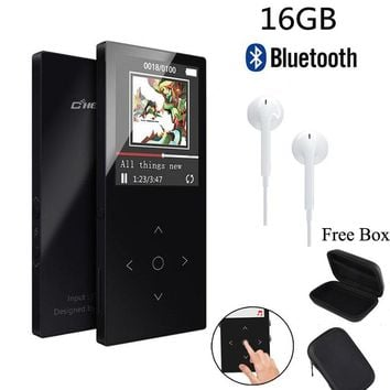 "2018 C9 HiFi Original MP3 Player Bluetooth with 16GB 1.8""Screen MP3 Player High Quality Lossless Audio MP3 FM Voice Recording"