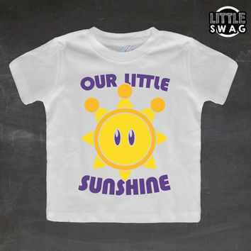 Our Little Sunshine (white shirt) - toddler, kids t-shirt, children's, kids swag, fashion, clothing, swag style