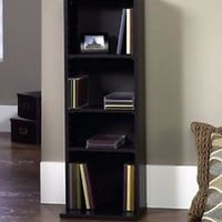 Bookcase 4 Shelf Bookshelf Storage Furniture Shelving Media Save Wood Black Oak
