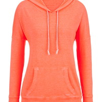 Burnwash Hoodie With Ties - Orange Burst