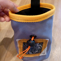 Chalk Bag for Climbing with hand drawn shrink plastic design