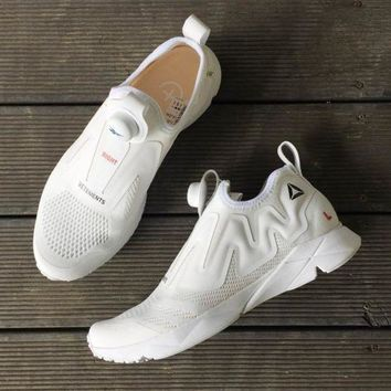 CREYNW6 Sale Vetements x Reebok Pump Supreme Engine Black White Fashion Shoes Sneaker Casual Shoes