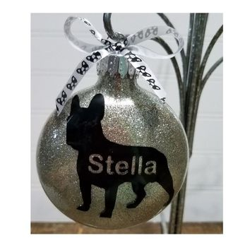 French Bulldog Lover - Frenchie Mom Gift, Personalized Christmas Ornament, Pet Loss Gift, Rainbow Bridge Gift, Pet Memorial