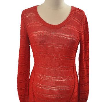 Red Long Sleeve Sweater by A Pea In The Pod