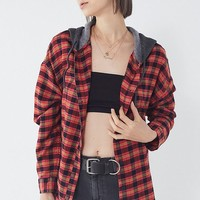 BDG Darcy Plaid Flannel Hooded Button-Down Shirt   Urban Outfitters