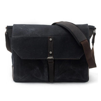 Leather Messenger Bag Men, Waxed Canvas Messenger Bag Men, Man Messenger Bag Woman, Men Laptop Messenger Bag, Leather Briefcase, Monogram