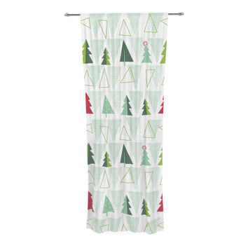 "Allison Beilke ""Pining for Christmas"" Christmas Holiday Decorative Sheer Curtain"