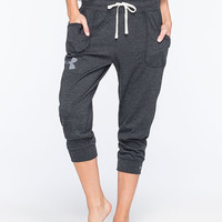 Under Armour Charged Tri-Blend Womens Crop Pants Black  In Sizes