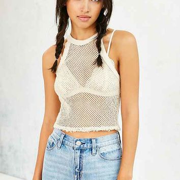 Truly Madly Deeply Fitted Mesh Cropped Tank Top-
