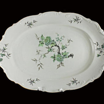 China Platter Mitterteich Bavaria Germany Green Ming (Gold Trimmed)