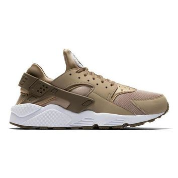 DCCKIG3 Men's Nike Air Huarache Shoe - Khaki/White