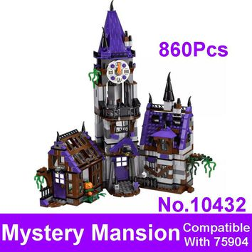 2017 New Blocks BELA 10432 Scooby Doo Mystery Mansion Model Figures Building Bricks Set Toys Compatible 75904 For Children