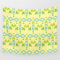 simple tribal pattern Wall Tapestry by Berwies