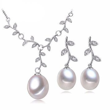 Pearl Necklace/Earring Sets
