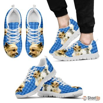 Customized Dog Print (Black/White) Running Shoes For Men design by Shanan Roth-Free Shipping Limited Edition
