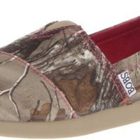 BOBS from Skechers Women's World Hide&Seek Realtree Ballet Flat