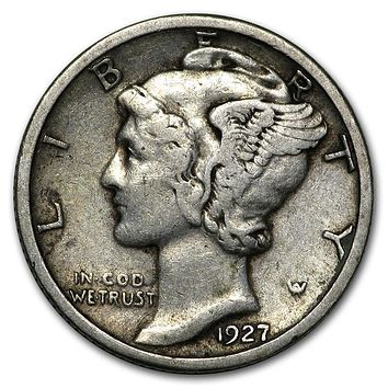 1927 Mercury Dime Good/VF