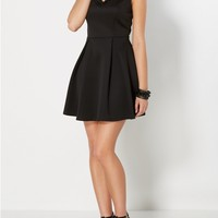 Gemstone V-Neck Skater Dress