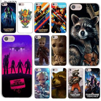 Lavaza Guardians of the for Galaxy Marvel groot rocket Hard Cover Case for Apple iPhone 8 7 Plus 6 6S Plus 5 5S SE 5C 4 4S 10 X