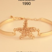 Sweet rhinestone starfish sea star bracelet