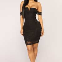 Nayeli Lace Dress - Black