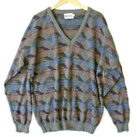 Multicolored V-Neck Cosby / Golf Sweater