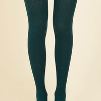 Homework Bound Tights in Teal | Mod Retro Vintage Tights | ModCloth.com