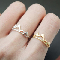 New Fashion Open Mountain Rings for Women Birthday Gift R171
